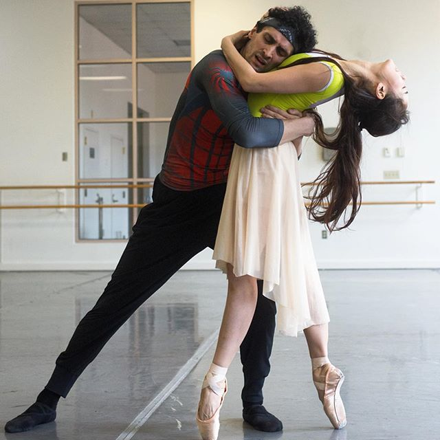 LINK IN BIO: Principal dancers discuss the emotional challenge of telling Romeo & Juliet's tragic tale. Read our Q&A with @bostondancejournal Principals Seo Hye Han and Lasha Khozashvili! . . . 📷: Lasha Khozashvili and Seo Hye Han rehearsing John Cranko's Romeo & Juliet; photo by Brooke Trisolini, courtesy of Boston Ballet