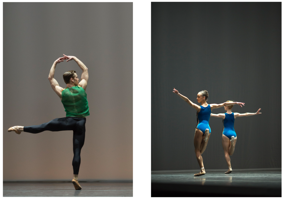 Derek Dunn, left, and Chrystyn Fentroy, right, in William Forsythe's  Pas/Parts 2018 ; photos by Peter Morse:  www.petermorsephoto.com