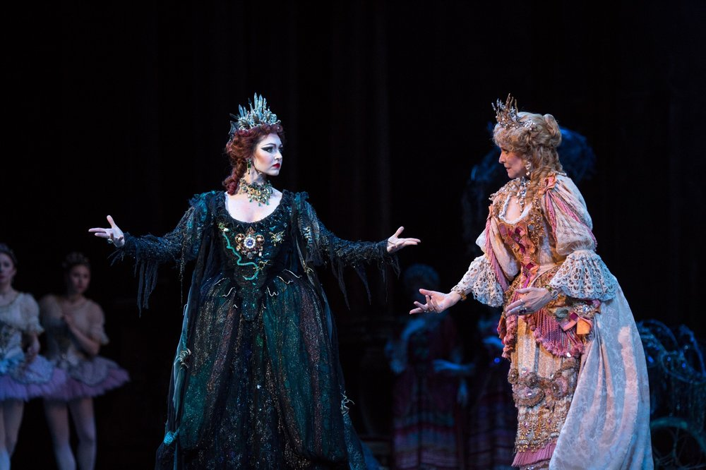 Kathleen Breen Combes and Elizabeth Olds in Marius Petipa's  The Sleeping Beauty; photo by Peter Morse: www.petermorsephoto.com