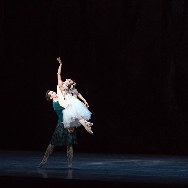 It's the final opening night of the season at @bostonballet! Looking forward to La Sylphide and Bournonville divertissements! . . . 📷: @misakuranaga and Patrick Yocum in August Bournonville's La Sylphide, by Peter Morse @petermorsestudio