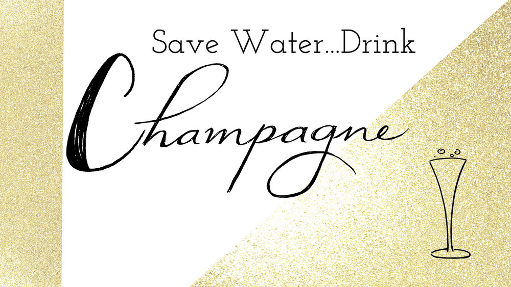 Save Water Drink Champagne free desktop wallpaper