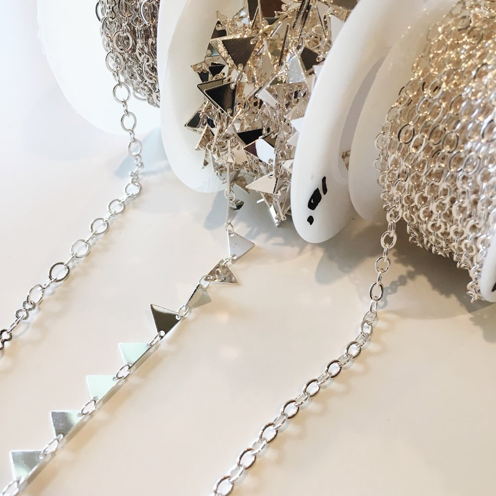 silver chain for handmade jewelry