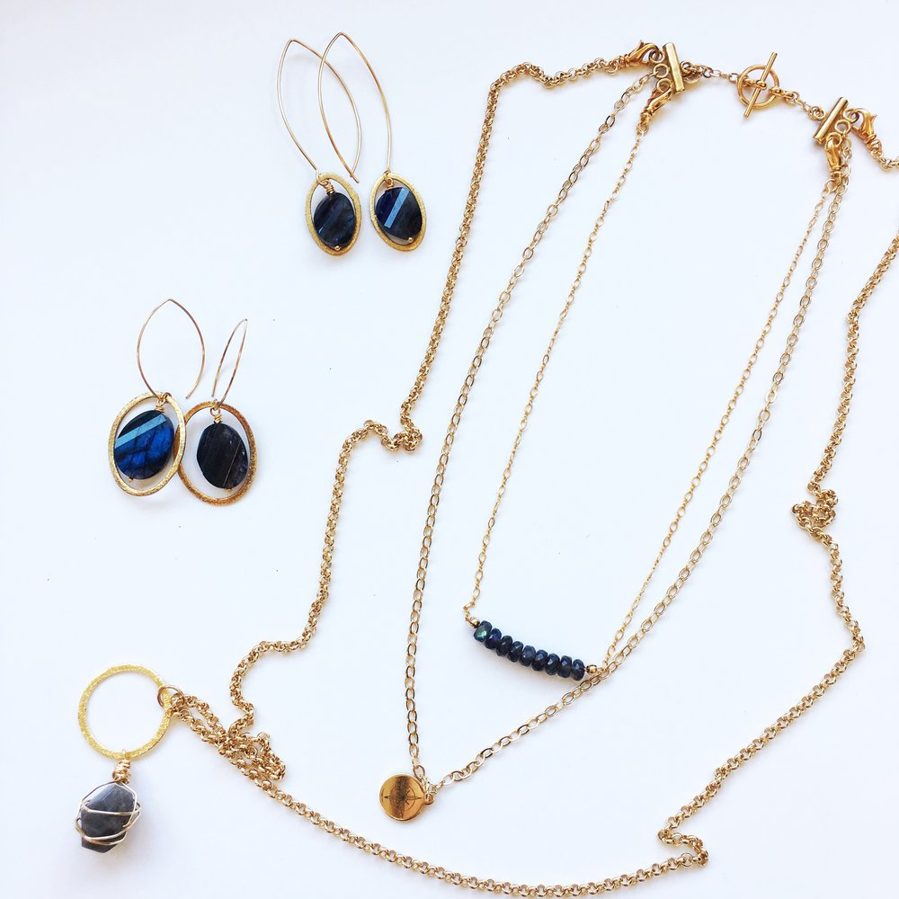 blue labradorite gemstone jewelry