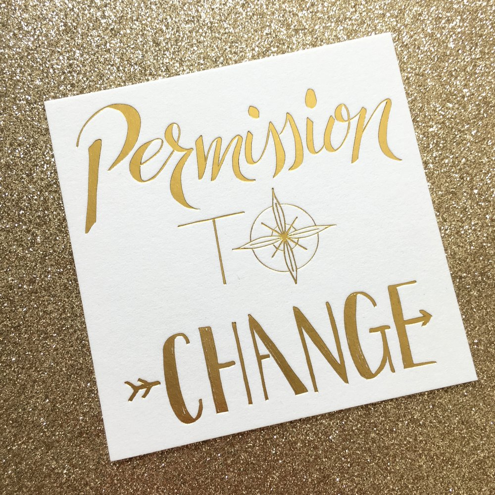 permission to change hand lettering