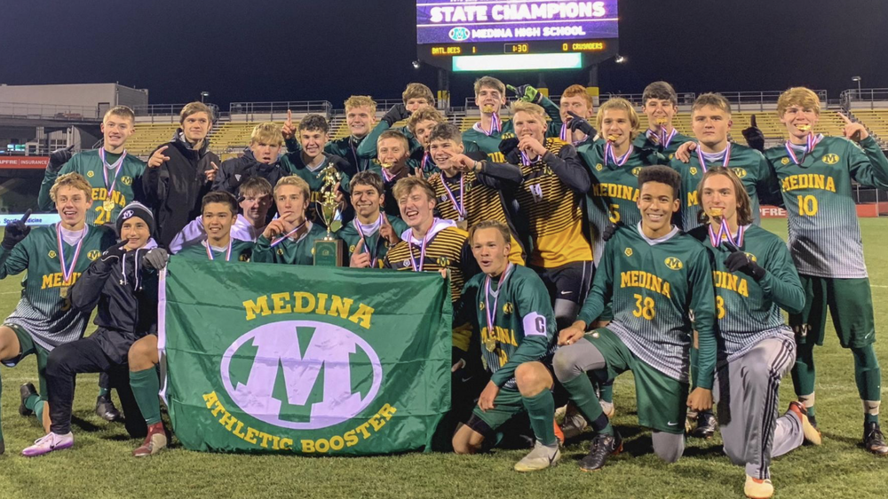 CONGRATS TO THE DIVISION 1 SOCCER STATE CHAMPION MEDINA BEES!