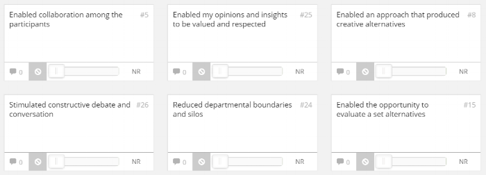 screenshot from decision space template