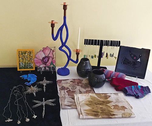 Ojo Sarco Community Center - Art Glass, Santa Clara pottery, Jewelry, Quilts, Nature-dyed silk, Furniture, Paintings, Handcrafts and More!159 County Road 69, Ojo Sarco | 505.689.1055community@ojosarco.org