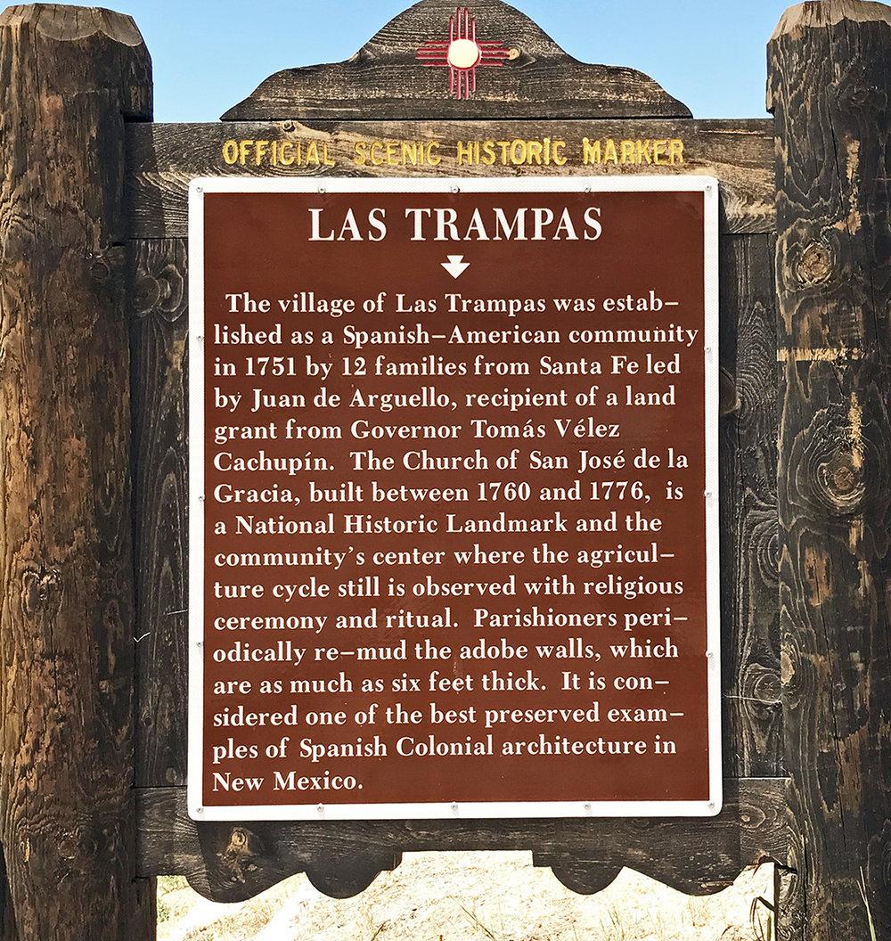 Las Trampas Site Marker