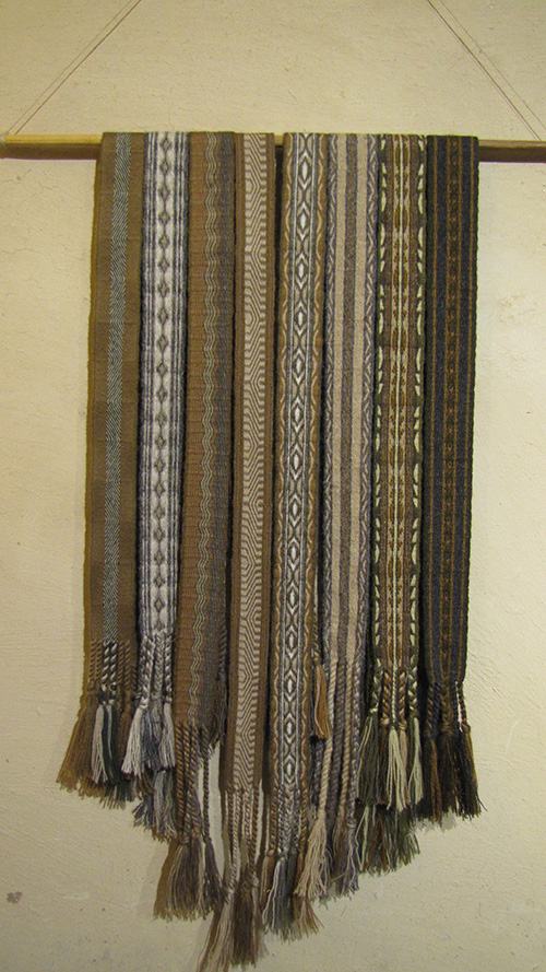 Sarah Hammond; Card Woven Sashes: Wool and Silk