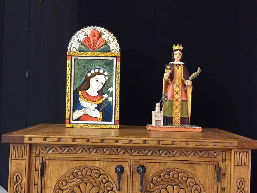 Garcia Spanish Colonial Arts - Retablos, Bultos, Handcarved Furniture1325 State Rd 75, Peñasco505.779.1723 | LorrieGarcia85@hotmail.com
