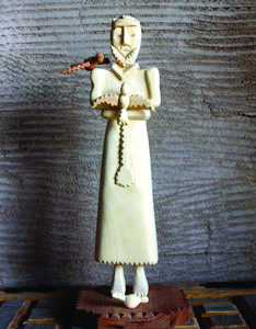 Isabro Ortega's Carvings - Master Woodcarver: entire house chip-carved#16 County Rd 74, Truchas | 505.689.2581