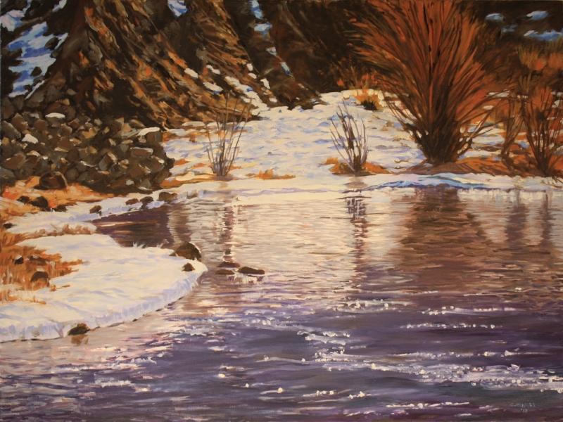 Frozen Eddy   Oil on Canvas