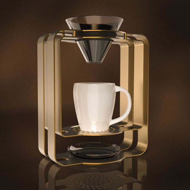 better late than never - a small coffee brewer for last week's @renderweekly challenge. Not quite happy with the outcome, but it's time to let go and make a (coffee) brake ☕️ . . . #coffee#brewer#rendering#renderweekly#challenge#renderoftheday#weeklydesignchallenge#industrialdesign#productdesign#keyshot#keyshotrender#rhino#rhino3d#photoshop#render#digital#cad#floating#shape#golden#metal#glass#ceramic#lighting#reflections#3d#textures#design#tr