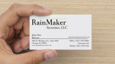 rainmaker securities business card, signature matte finish (16pt Stock)