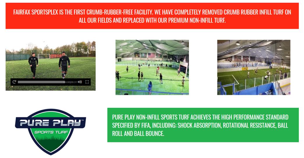 Fairfax Sportsplex Crumb Rubber - Free Facility — Pure Play Non