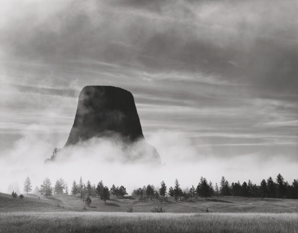 Rising Fog - Devils Tower, WY, 1988