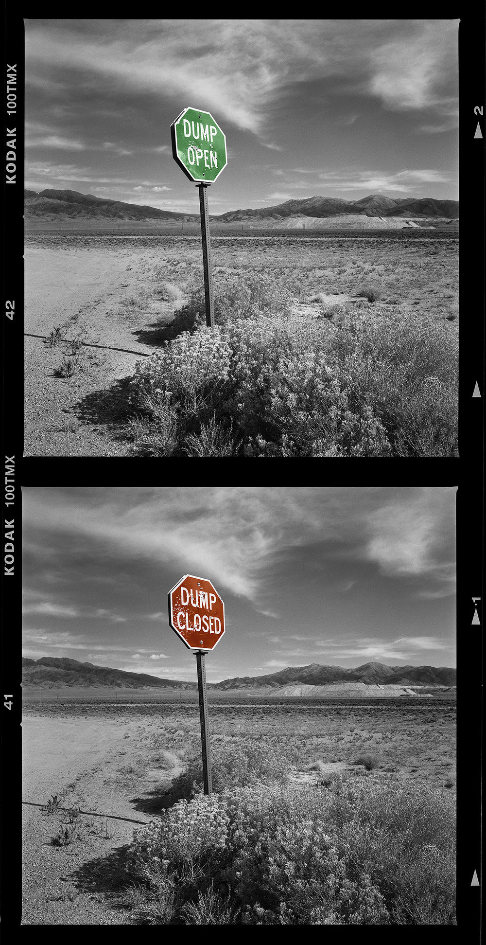 Dump Open, Dump Closed, Utah, 2008,2015