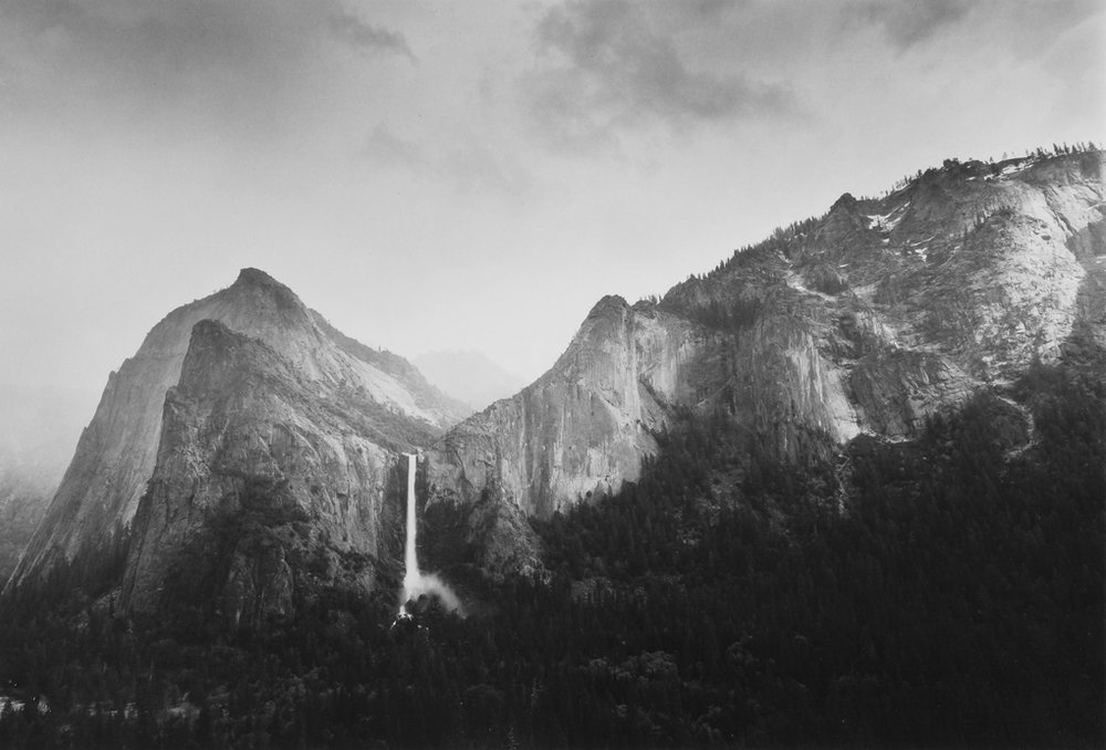Sun and Snow- Bridalveil Fall, Yosemite National Park, CA, 1986