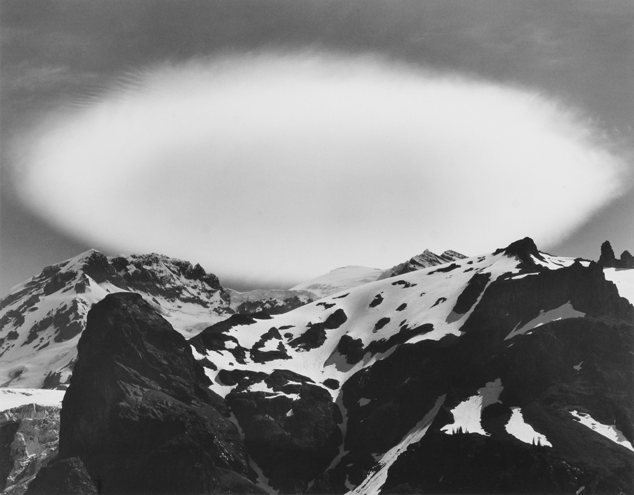 Cloud Over Mount Rainier, WA, 1976