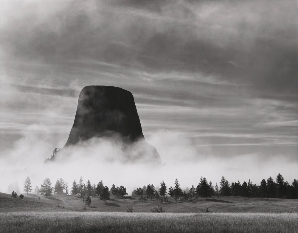 Rising Fog, Devils Tower, WY, 1988