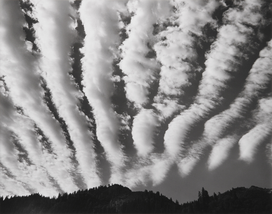 Clouds over Yosemite, Yosemite National Park, CA, 1974
