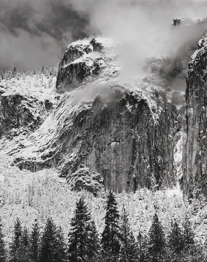 Cliffs in Snow, Yosemite National Park, CA