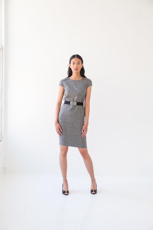 Perfect Gray Office Dress