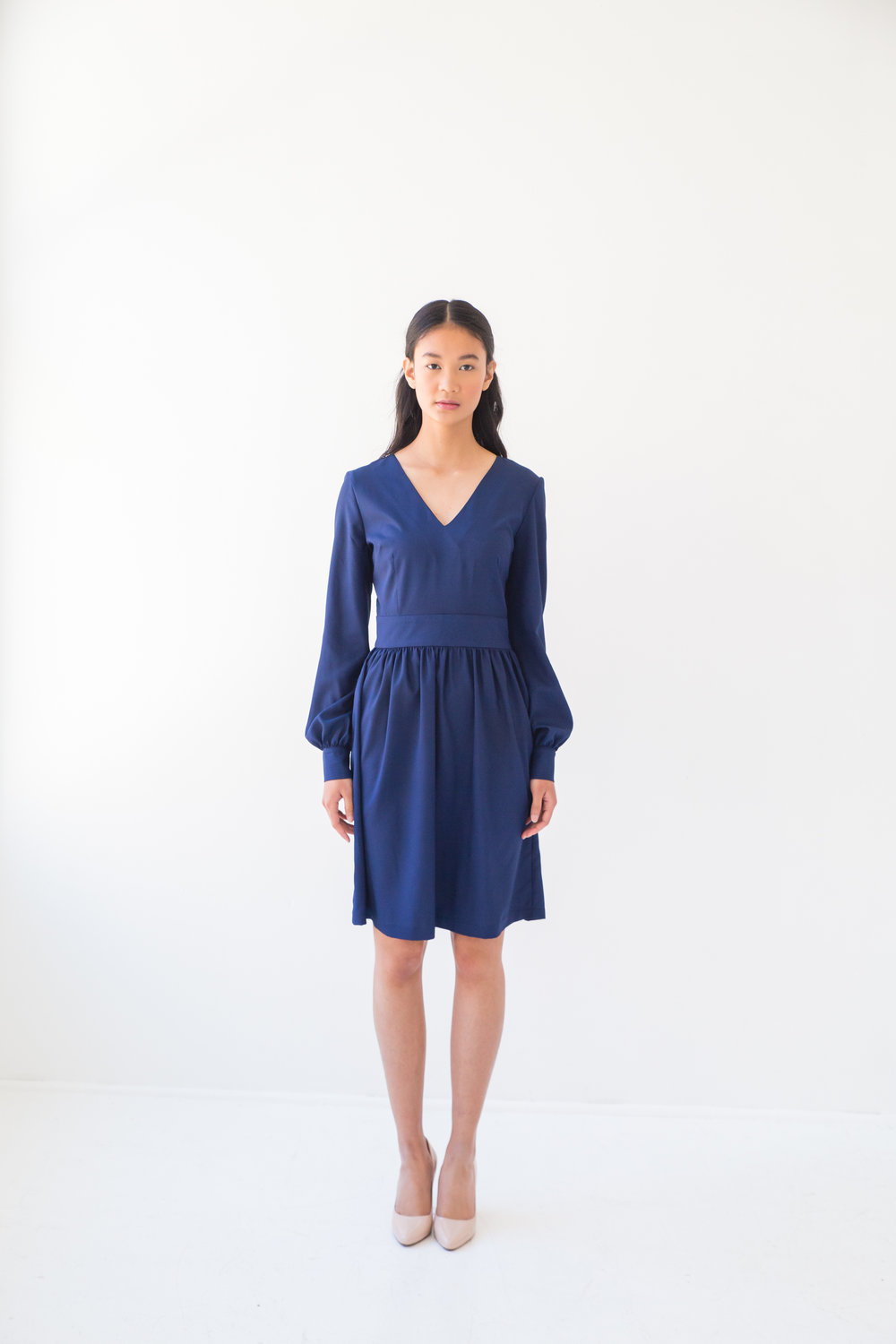 Long and Puffy Sleeve Dress