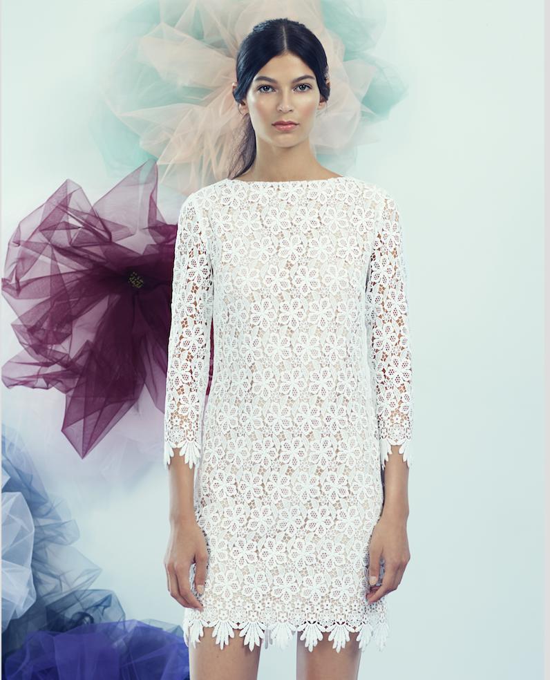 White Lacy Long sleeve Dress