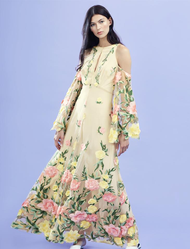 3D Lace Long Dress