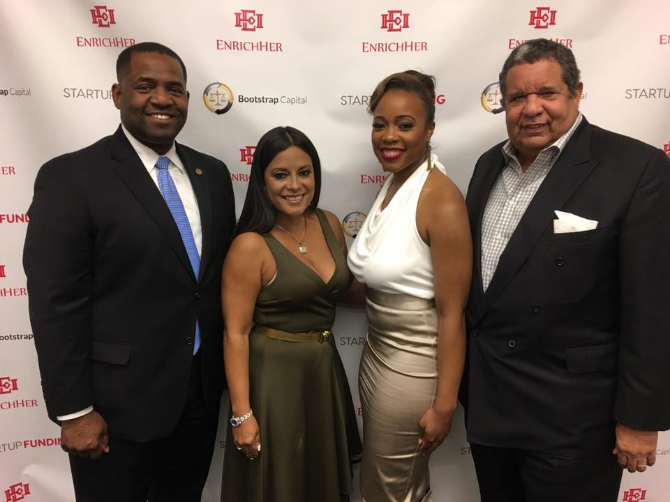 Changemakers (L to R):  Ceasar Mitchell  (Atlanta City Council President and Atlanta mayoral candidate), keynote speaker,  Lisa Nicole Cloud  (WEN and BRAVO TV),  Dr. Roshawnna Novellus,    Michael V. Roberts Sr,  Chairman, CEO and Founder of the Roberts Companies