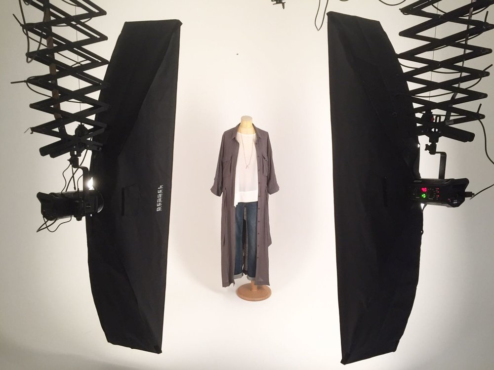 studio set up Covet clothing fashion product e-commerce photography