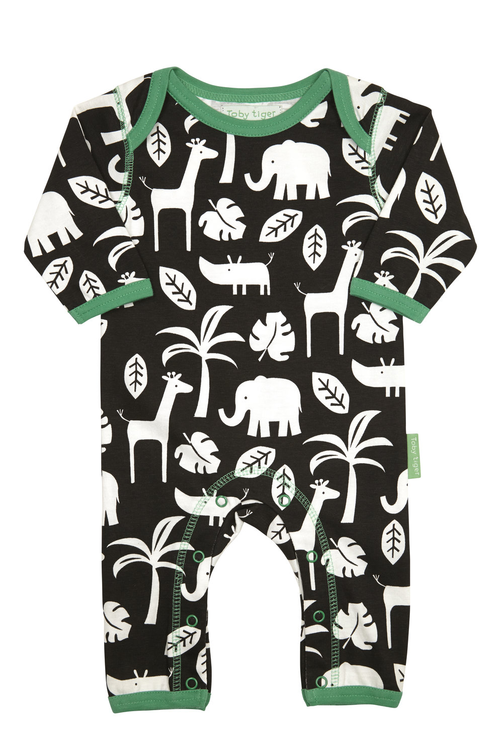 Toby Tiger animals romper suit