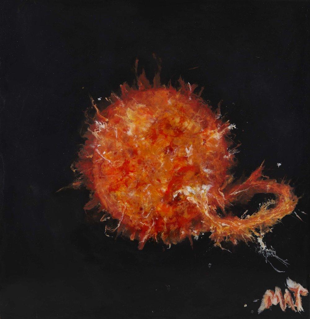 Solar Flare by Matt Nunn (H 97cm x W 98cm)