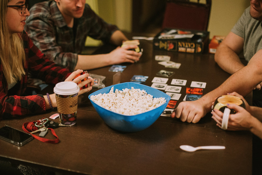 ENJOY A NIGHT OF LAUGHTER, LATTES         AND BOARDGAMES WITH FAMILY AND                                        FRIENDS!  -