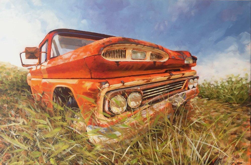 Big Orange Truck - By Ray Renooy