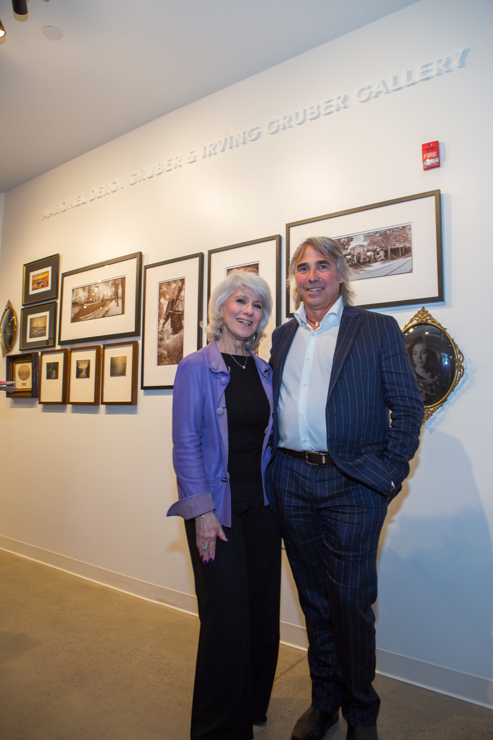 Terry Gruber and Sister in the Gruber Gallery.jpg