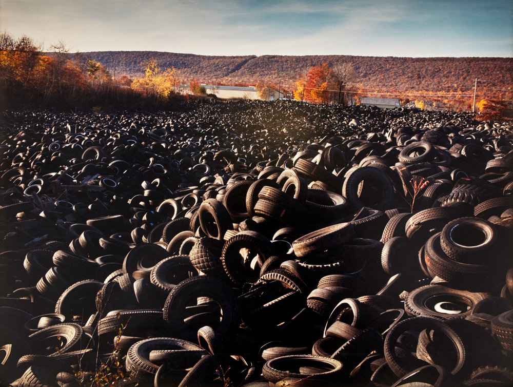 "Lot 09 Pamela Z. Bryan, Pittsburgh, PA    Tires , Chromogenic Print, c. 1988, 12"" x 16"" Donated by the artist $800 - 1,000"
