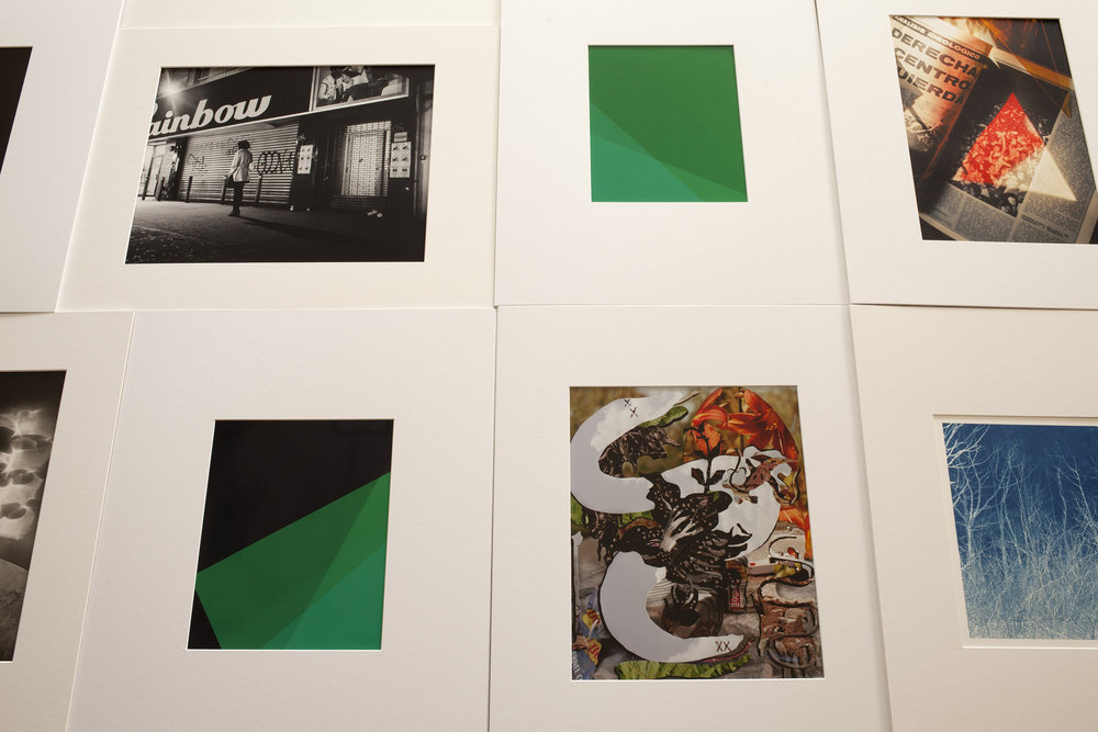 "Lot 57 Silver Eye Editions Portfolio   9 archival prints, various media, Custom case, 2015-2017, 16"" x 3"" x 20"" Each print signed Donated by the artists Edition of 5 $1,500 - 3,000"