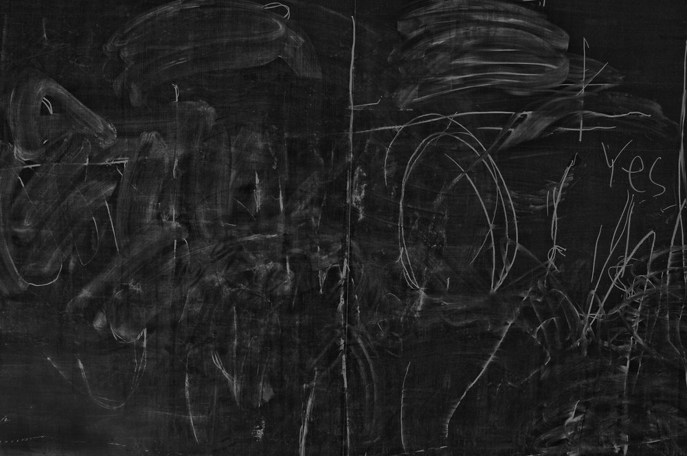 "Lot 58 Francis Crisafio, Pittsburgh, PA    ""Yes"" Blackboard , Archival Inkjet Print, 2014/2017, 17"" x 11"" Signed, verso Donated by the artist $400 - 600   franciscrisafio.com"