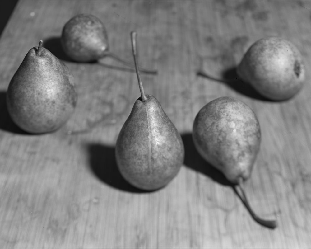 "Lot 62 Andrew Frost, Burlington, VT    Pears , Silver gelatin contact print, 2017,10"" x 8"" Signed, verso Donated by the artist AP, Edition of 30 $300 - 500   andrewpfrost.com"