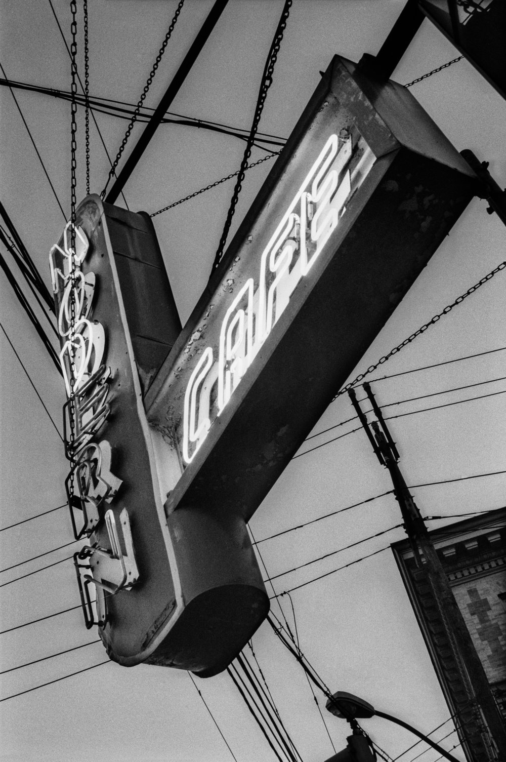 "Lot 64 Chuck Biddle, Pittsburgh, PA    Modern Cafe , Archival inkjet print, 1991/2017, 16"" x 20"" Signed, recto Donated by the artist Edition 1/5 $400 - 700"