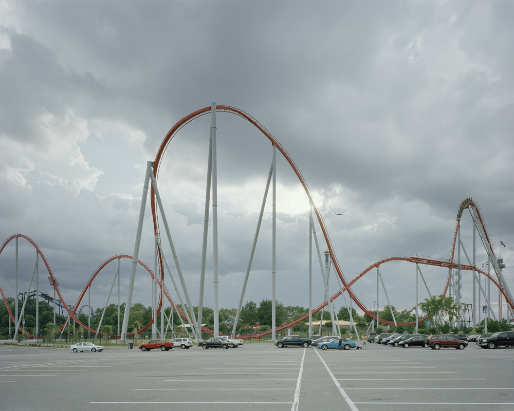 "Lot 80 Keith Yahrling, Philadelphia, PA    Carowinds Amusement Park,  Fort Mill, South Carolina, July 19, 2012,  Archival inkjet print, 2012/2018, 24"" x 30"" Signed, verso Donated by the artist Edition 3/10 $400 - 800   keithyahrling.com"