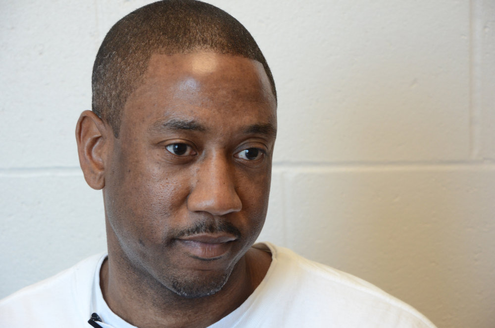 Dennis Booker describes his experience serving life in prison at the Jefferson City Correctional Center in Jefferson City, Missouri, on Monday, March 21, 2016. Booker was convicted of second-degree murder and sentenced to life in prison with the possibility of parole. He plans to attend his fourth parole hearing this July.