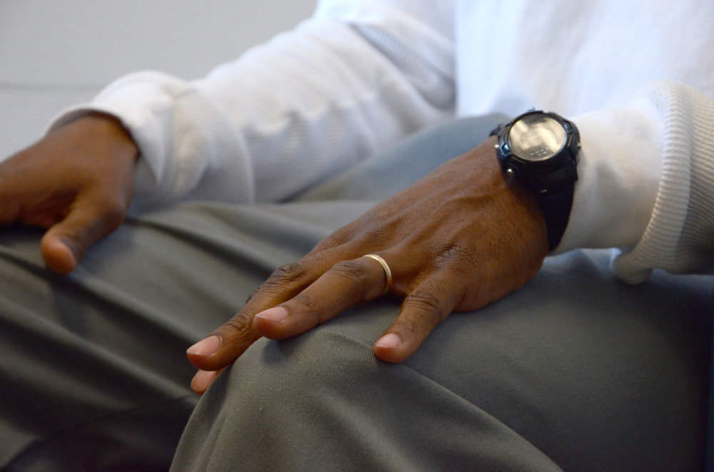 Inmate Dennis Booker discusses his accomplishments while in prison at the Jefferson City Correctional Center in Jefferson City, Missouri, on Monday, March 21, 2016. While in prison, Booker earned a college degree and has been married for 13 years.