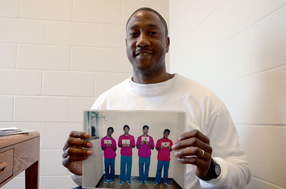 Inmate Dennis Booker explains what it felt like to transition from the outside world into prison as a juvenile at the Jefferson City Correctional Center in Jefferson City, Missouri, on Monday, March 21, 2016. Booker was 16 years old when he was sentenced to life in prison with the possibility of parole. He said he has hope that the parole board will recognize the contributions he could make to society if he were released.