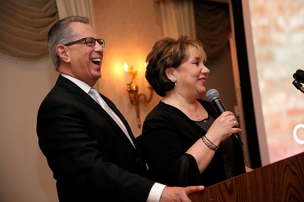 Jonathan and Verna at the surprise celebration for their 40th year of marriage and 40th year in ministry.