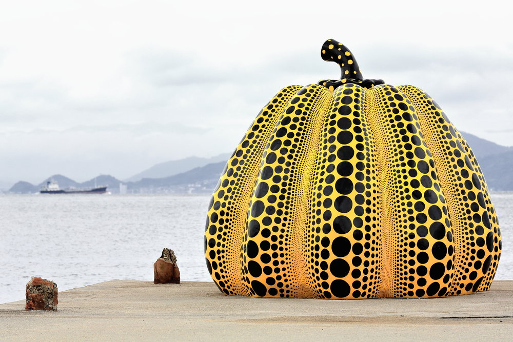 Yayoi Kusama's eight-foot-tall, 1,800 pound Pumpkin is traveling to North American museums for exhibitions through October of 2018.