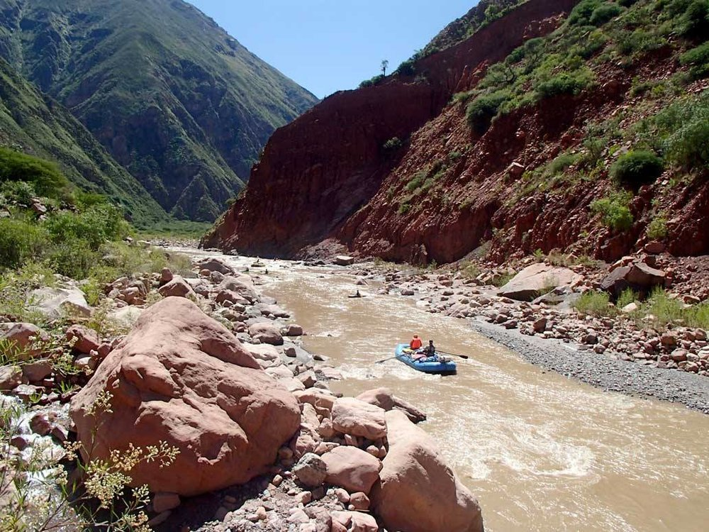 View of us descending Río Chayanta on the second day of the trip.