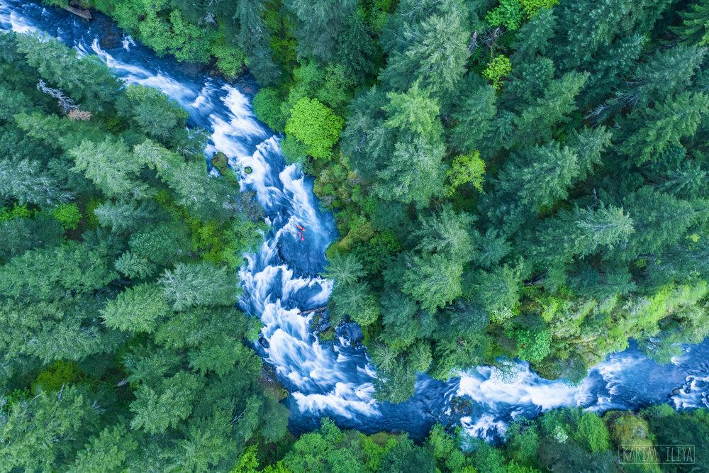 KARIM ILIYA RIVER OREGON DRONE NATURE